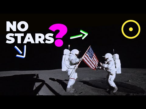 Why can't you see stars from the moon