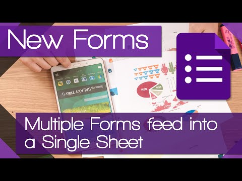 Have multiple forms feed information to a single sheet