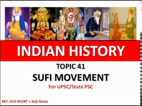 Topic - 41   sufi movement   sufism   sufism in india   for upsc   state pcs