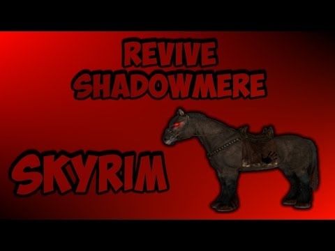 How to get shadowmere back if it dies in skyrim | works on consoles