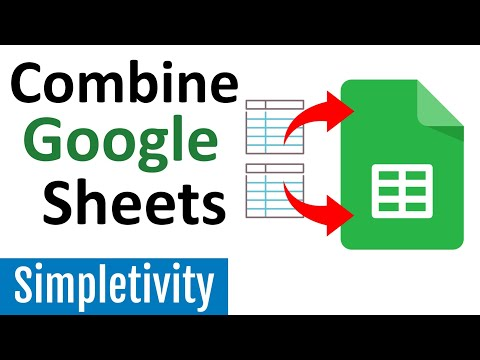 How to combine multiple google sheets together (tutorial)