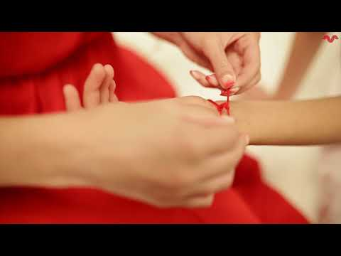 How to tie red string ? kabbalah red string bracelet protection by ventura. against evil eye